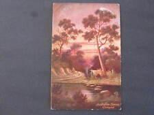 Camped Australian Series Postcard postally used