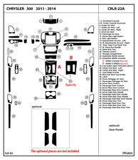Carbon Fiber Dash Trim Kit for CHRYSLER 300 2011-2014 Interior Overlay Dashboard