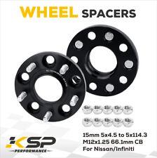 2PCS 15MM HUB CENTRIC WHEEL SPACERS 5x114.3 To 5X4.5 66.1 CB M12X1.25 US Stock