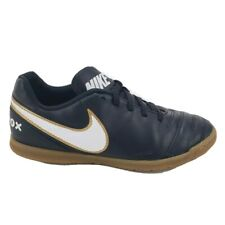 Nike Boys Tiempo Rio III IC Soccer Shoes Black 819196-010 Lace Up Low Top 5
