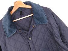 Barbour Chaqueta Liddesdale Acolchado Azul Marino KU2236 Original Premium Talla M