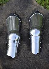Battle Merchant Spätmittelalter-Beinzeug 1,6mm Stahl Plattenrüstung Beinschienen