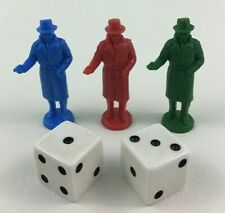 Stop Thief Pawns Dice Game Replacement Pieces Electronic Cops and Robbers 1979