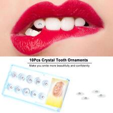 10x Dental Tooth Gems Clear Crystal Teeth Gem Oral Ornaments Jewellery Bling