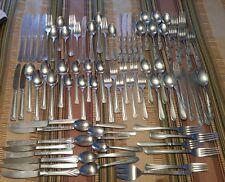 80pc collection lot flatware random oneida stainless China Tudor Cambridge craft