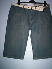 Patternless Denim Loose Fit Big & Tall Shorts for Men