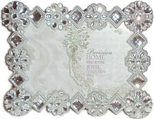 "Sheffield Home Parisian Collection 6"" x 4"" Frame Faux/Rhinestone - 4X93-46 SIL"