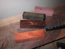 "Lot of 4 Wood Turners Variety Pack  Exotic Wood Turning Blanks 1.5"" x 1.5"" x 6"""