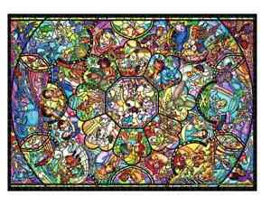 Disney Jigsaw Puzzle World's Smallest 1000 Piece All Star Stained Glass