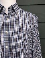 Peter Millar Multi Color Check 100% Cotton Men's Shirt Size Large