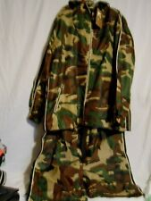 Camouflage Hooded Jacket Pants Fleece Lined Brown Green Hunter Hunting NWT XXL