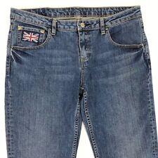 Genuine Triumph Motorcycle Women's Size Medium 34x30 Stretch Denim Jeans Boot