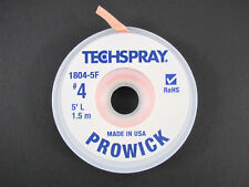 """Prowick"" Solder Wick - #4 - 5' Braid - Techspray 1804-5F - MADE IN THE USA!"