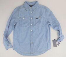 Youth Polo Ralph Lauren long sleeve Chambray shirt M 10-12 LIGHT BLUE NEW!