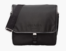 100% auth PRADA nylon messenger bag / Black / Brand new