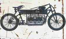 Curtiss v8 1907 Aged Vintage Schild a4 Retro