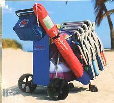 TOMMY BAHAMA DELUXE WONDER WHEELER BEACH CART  NEW