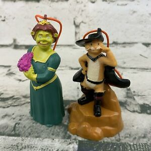 Shrek Figures Ornaments Carls Jr Kids Meal Toys Lot Of 2 Fiona Puss In Boots