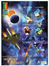 GAMBIA = EXPO 2000 S/S + M/S MNH **  SPACE & ASTRONOMY, CONCORD PLANE, AVIATION