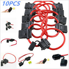 10 Pack ATC / ATO 16 Gauge 25 AMP Vehicle Auto Car In-Line Fuse Blade Holder New