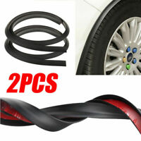 Passaruota auto allargamento Parafango pneumatici striscia Carbone nero