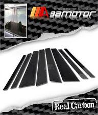 Real Carbon Fiber Door Pillar Panel Covers for 2006-2013 BMW E70 X5 3.0 4.4 4.8
