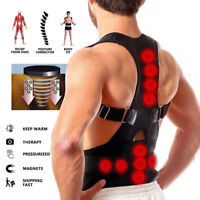 Posture Corrector Support Magnetic Back Shoulder Brace Belt For Men Wo xv