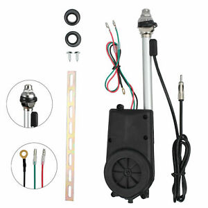 Universal Car Electric Aerial Radio AM/FM Automatic Booster Power Antenna Kit AU
