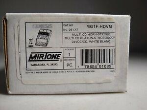 Genesis Mirtone MG1F-HDVM Multi-CD Horn Strobe Alarm - NEW