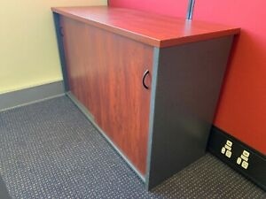 Office Credenza cherrywood 1200mm x 450mm As new condition.