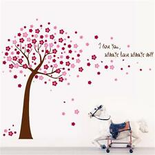 Cherry Blossom Flower Tree  PVC Wall decals decor kids baby stickers Home decor