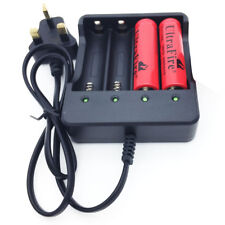 4 Slots UK Plug Battery Batteries Charger for 3.7V 18650 Rechargeable Battery