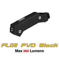 MecArmy FL02 Titanium USB Rechargeable Keychain Flashlight Torch - PVD Black
