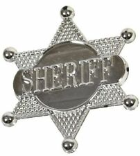 Silver Cowboy Sheriff Badge Wild West Western Party Bag Fillers Packs 1 - 48