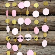 Round Hanging Garland-Glitter Gold/Pink/Weddings/Birthdays/Baby Shower/Parties