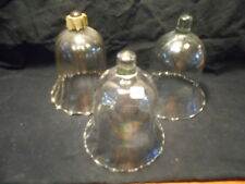 Clear Swirl Milano Votive Cups Lot of 3 Vintage Homco Home Interiors