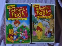 Walt Disney Winnie The Pooh Animated Movies VHS Lot Clamp Shell Valentine's Day