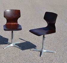 Adam Stegner éd Flötotto 2 Chaises enfant en Pagholz design vintage chair 1960