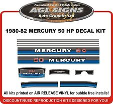 1980 1981 1982  MERCURY 50 hp DECAL KIT  reproductions stickers