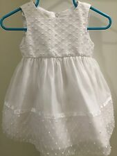 Cinderella Baby Girl 9 Month White Dress Baptism Christening Wedding Flower Girl