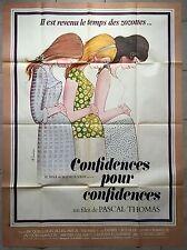 Affiche CONFIDENCES POUR CONFIDENCES Pascal Thomas DANIEL CECCALDI 120x160cm*