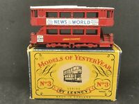 Matchbox Yesteryear Y3 Series 1 Is.9 1907 London 'E' Class Tramcar w Type C Box