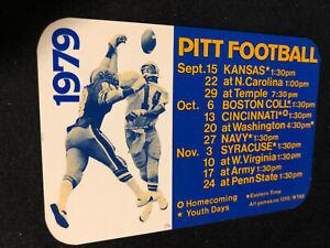 1979 Pitt Panthers College Football Pocket Schedule Dan Marino's Years