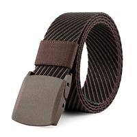 Men Military Tactical Nylon Belt Webbing Canvas Sports 1 Belt + 2 Plastic Buckle