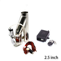 "2.5"" 63mm Exhaust Control E-Cut Out Valve Electric Y Pipe with Remote Kit"