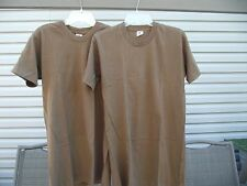 mens medium tshirts two military Brown 1 is NEW Fruit of the Loom 100% cotton