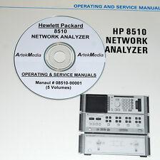 HP  8510 Operator / Service / Prog Manuals  (5 Volumes)