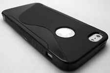 Black Soft Rubber Gel Case Cover Skin for Apple iPhone 5 Shell iPhone5 i phone