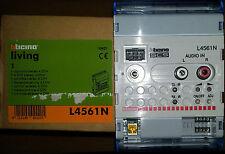 BTICINO L4561N dispositif contrôle stéréo SCS My Home 4 modules audio RCA