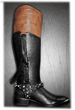 Sam Edelman 'park' Boot Leather Equestrian Belted Spiked Riding Bootie 8.5 /38.5